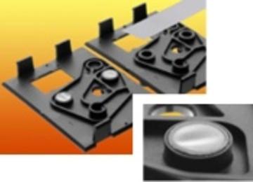 filtermembraan Ø 50 mm in behuizing (aangebracht d.m.v. lassen en ponsen in één beweging)