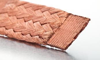 Compression tresse de cuivre