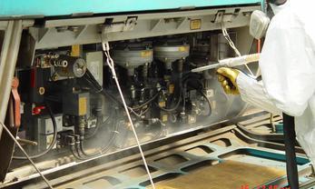 Nettoyage de rames de train