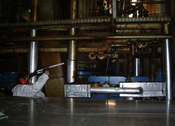 productielijn en ruimte reinigen