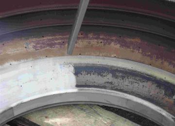 mal voor rubber tijdens het droogijsstralen