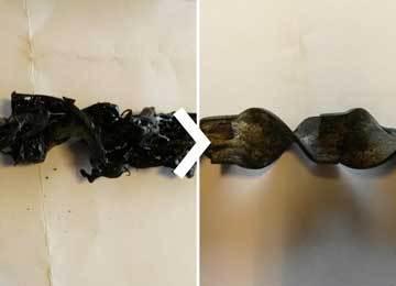 2-componenten pasta ultrasoon verwijderen met Supercleaner C5