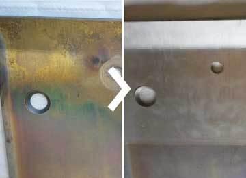 élimination par ultrasons d'un revêtement aluminium