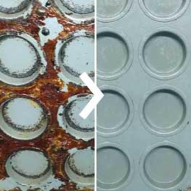 Nettoyage des matrices: pneus de voiture en caoutchouc