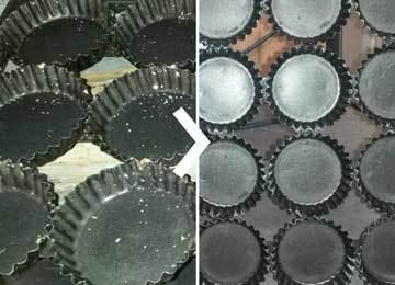 cakevorm ultrasoon gereinigd met Supercleaner B