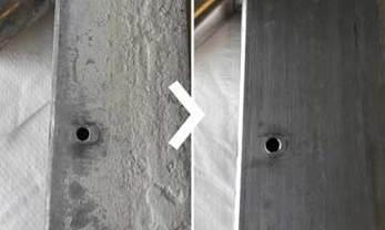 verwijderen van betonsluier