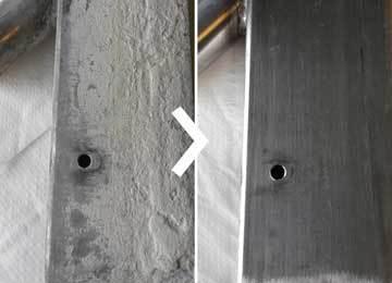 élimination par ultrasons d'un voile de béton avec Supercleaner C5