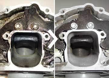 ultrasoon reinigen van carburateurs, (EGR) kleppen, pistons, etc.